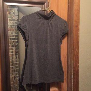 Gray dressy top
